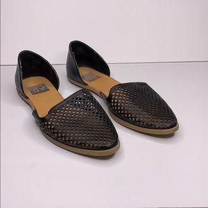 DV black slip on shoes